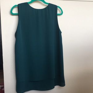 Sleeveless Blouse, Dark Seafoam Color